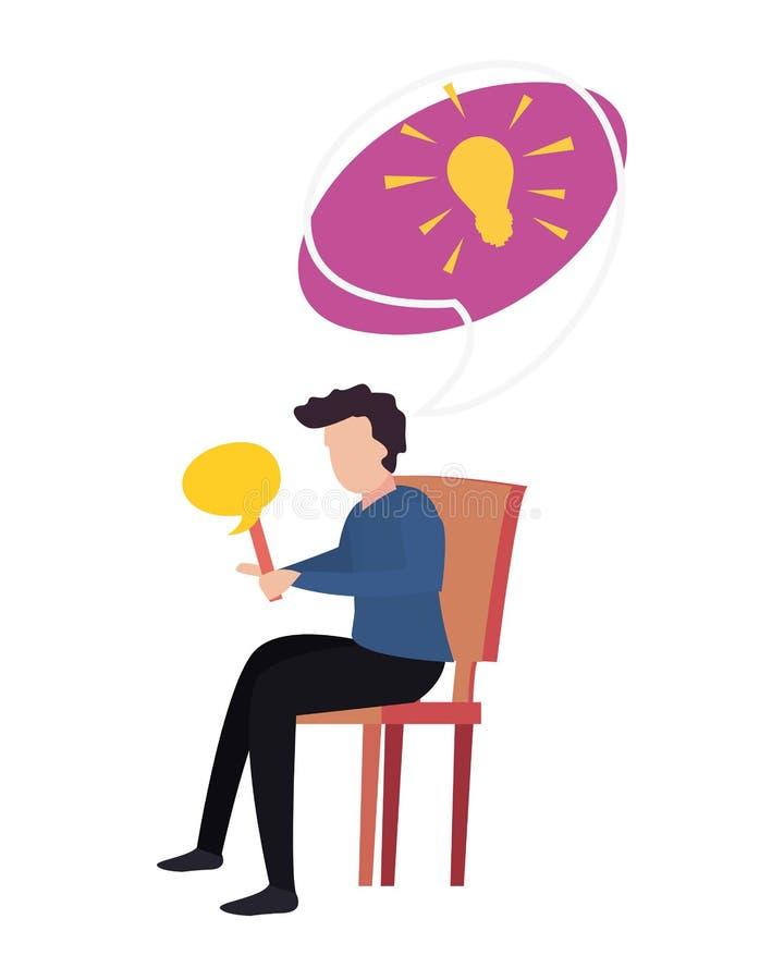 Småsakernattdesign stock illustrationer