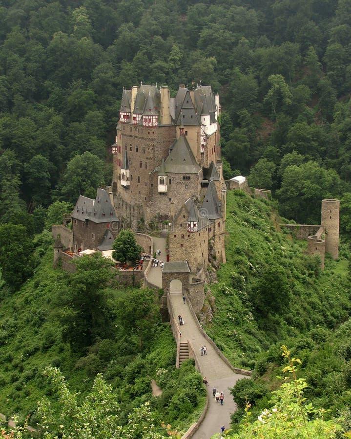 Småstad Eltz, Tyskland royaltyfria foton