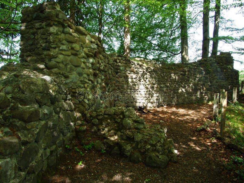 Småstaden fördärvar nära Burgau arkivfoton