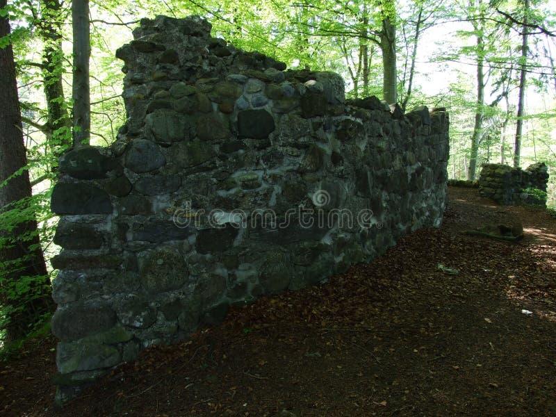 Småstaden fördärvar nära Burgau royaltyfria foton