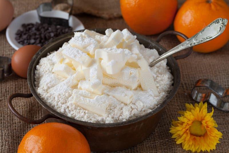 Smör som är blandat med mjöl arkivbilder