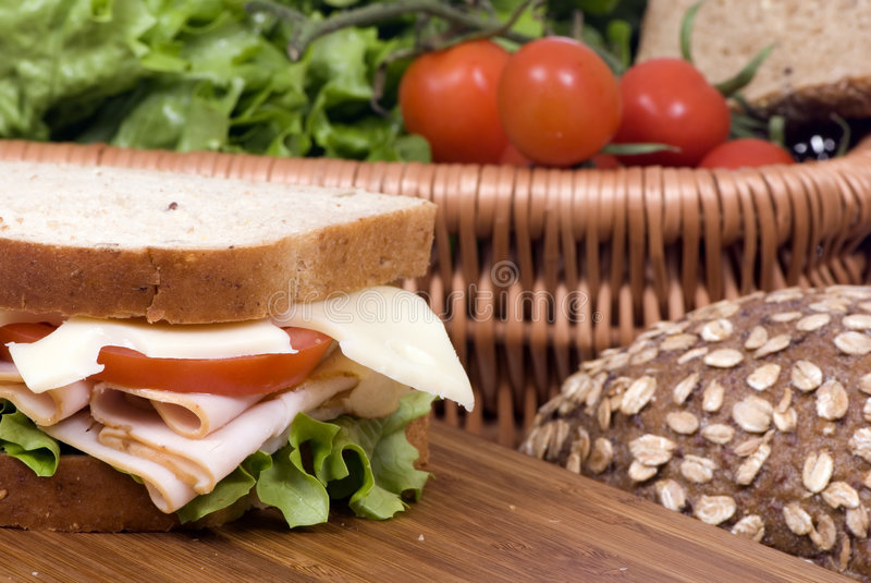 smörgås för 2 deli fotografering för bildbyråer