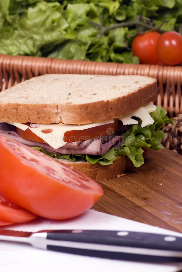smörgås för 4 deli royaltyfria foton