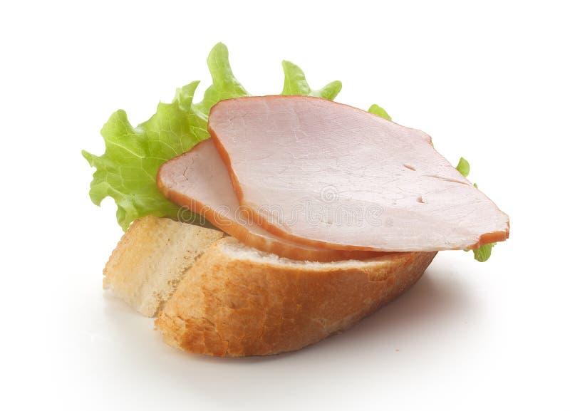 Smörgås med grisköttfläskkarrén royaltyfri bild