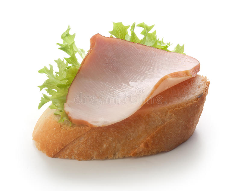 Smörgås med grisköttfläskkarrén arkivfoto