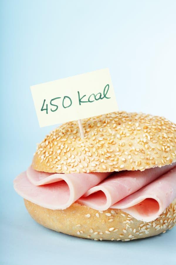 Smörgås med skinka arkivbild
