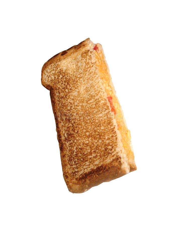 Smörgås som isoleras på vit royaltyfria bilder