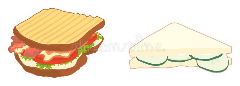 smörgåsar royaltyfri illustrationer