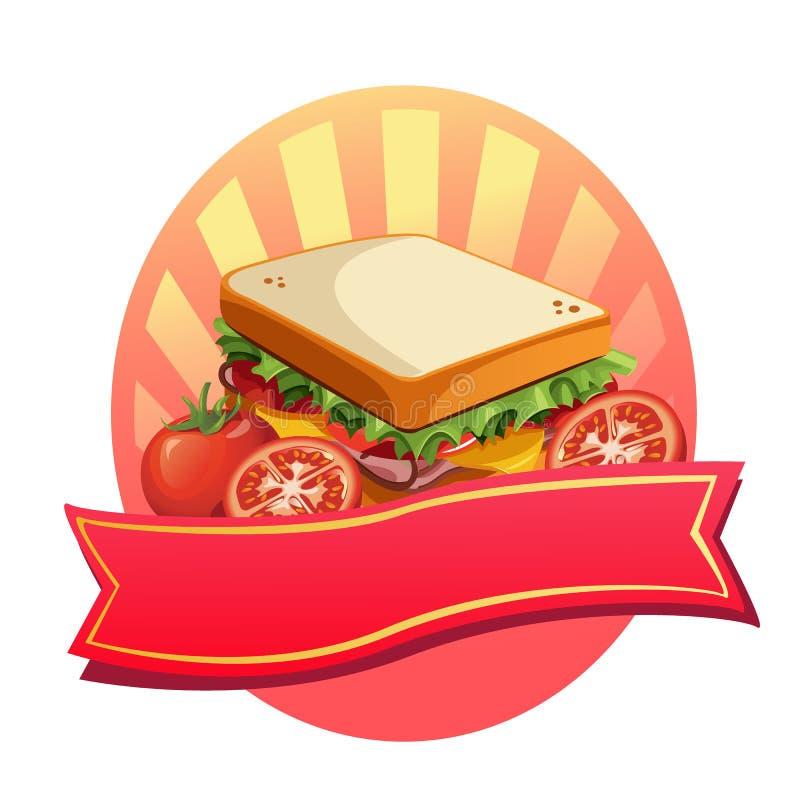Smörgåsetikett royaltyfri illustrationer
