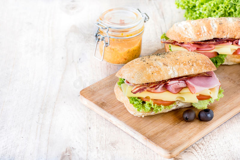 Smörgåsmål royaltyfria foton