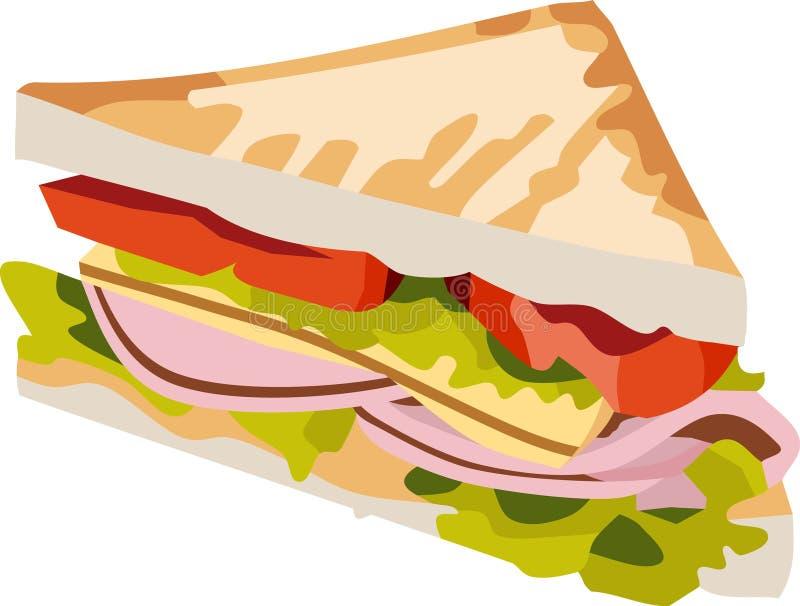 Smörgåsmålet stock illustrationer