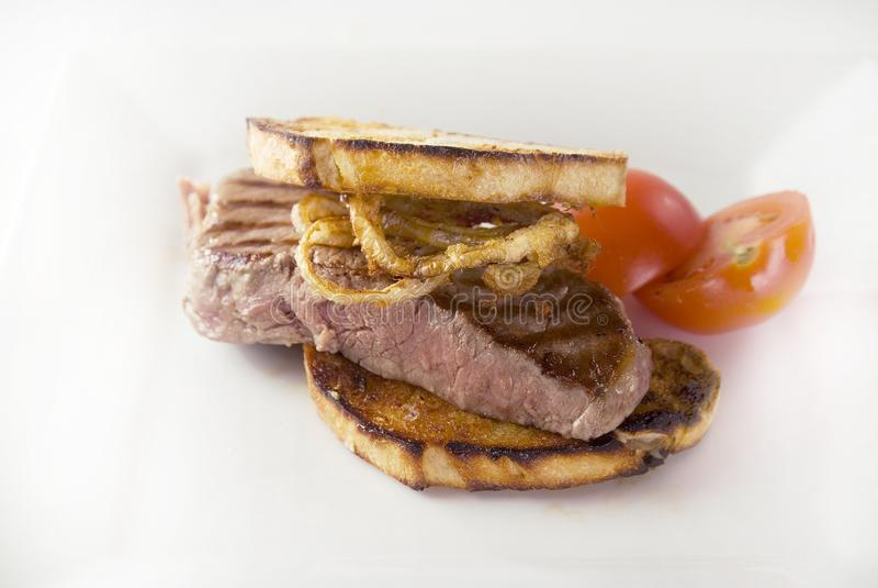 smörgåssteak royaltyfri fotografi