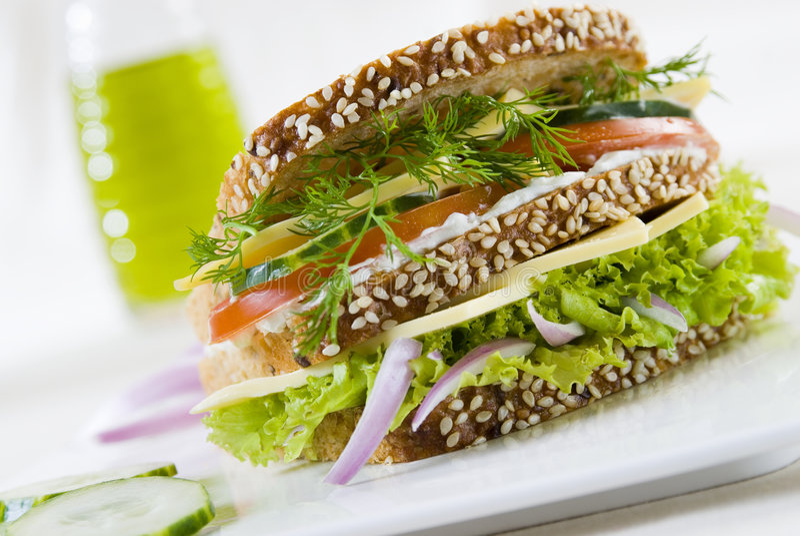 smörgåsvegetarian royaltyfria bilder
