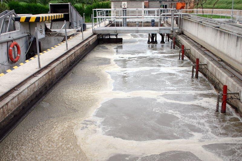 smörj behandlingwastewater royaltyfri bild