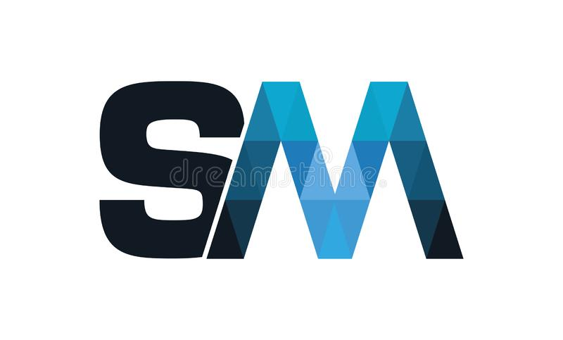 SM collectieve Technologie Logo Design stock illustratie