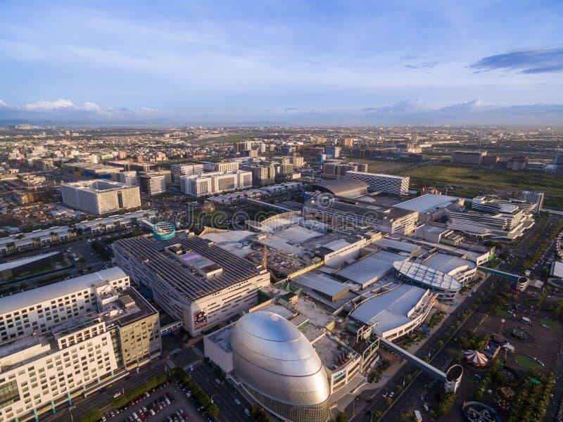 Sm-galleria av Asien i Manila, Filippinerna Härlig Cityscape och en av den största gallerian i Asien arkivfoton