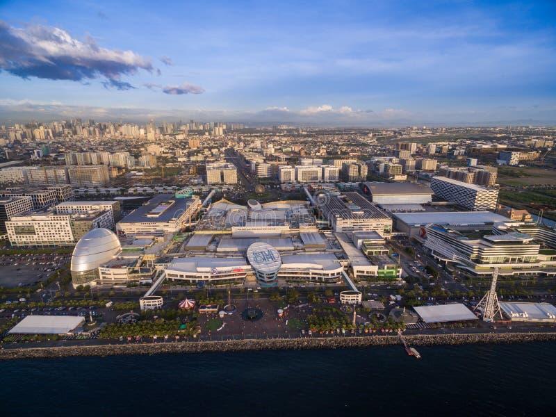 Sm-galleria av Asien i Manila, Filippinerna Härlig Cityscape och en av den största gallerian i Asien arkivfoto