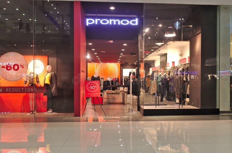 SM Lanang总理的Promod商店 库存照片