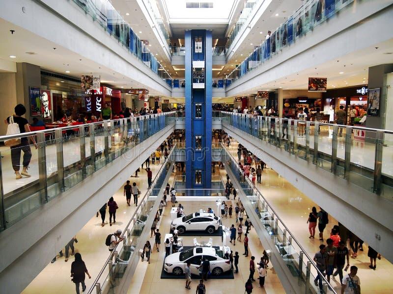 SM Megamall,其中一的内部个最大的购物中心在菲律宾 图库摄影