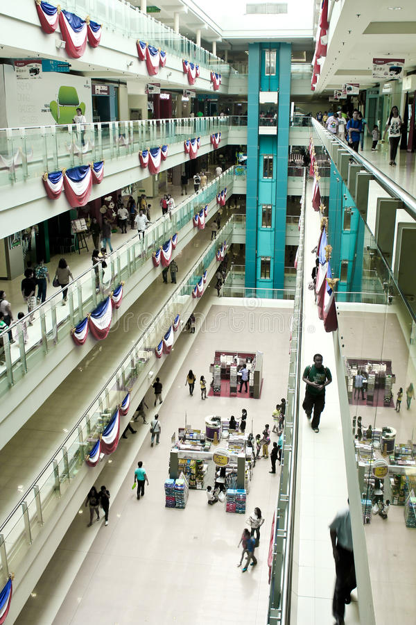 Sm-megamall, philippines shoppinggalleria arkivbild