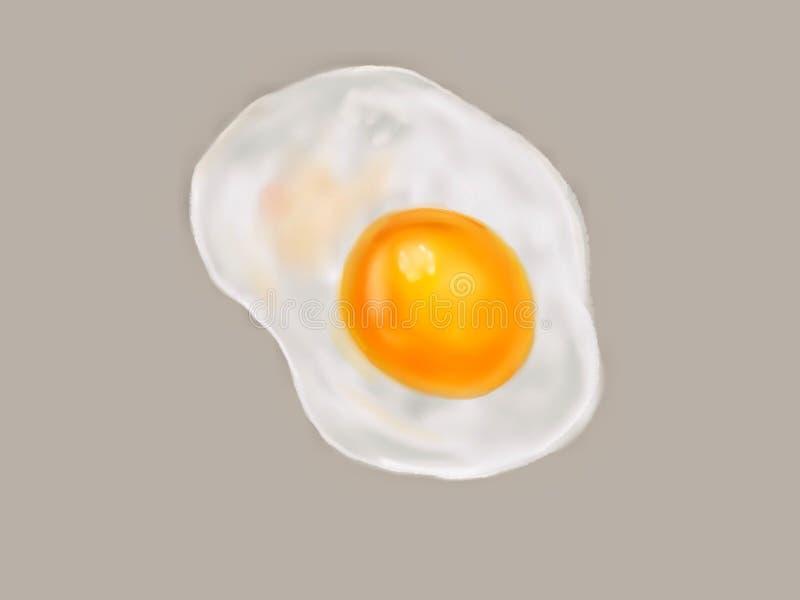 Smażący jajka od kurczaków jajek są ręcznie robiony ilustracją kitki ilustracji