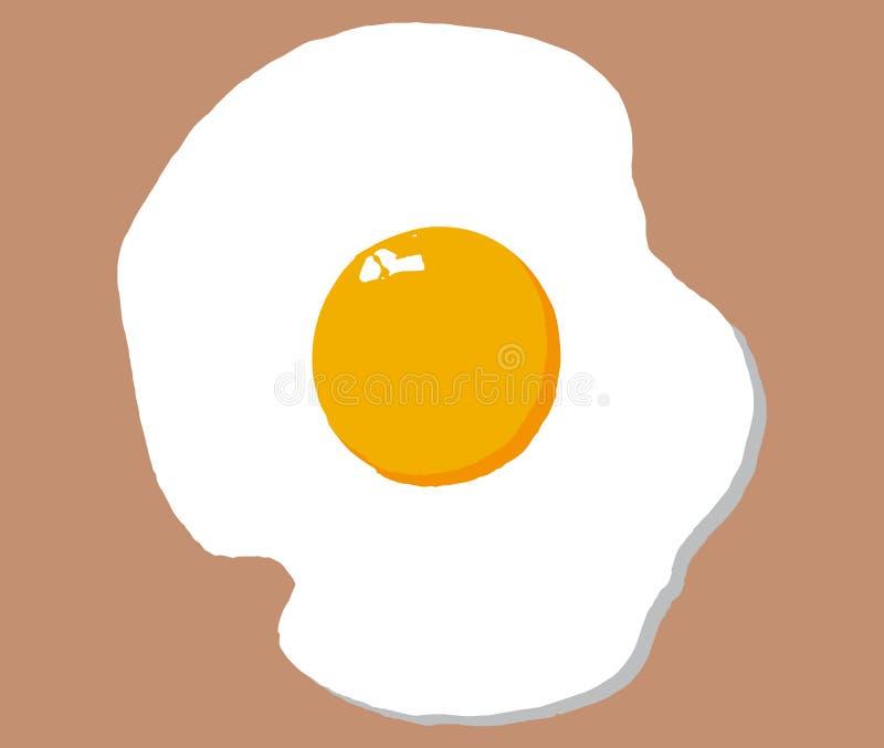 Smażąca jajeczna ikona na beżowym tle, wektor eps 10 ilustracja wektor