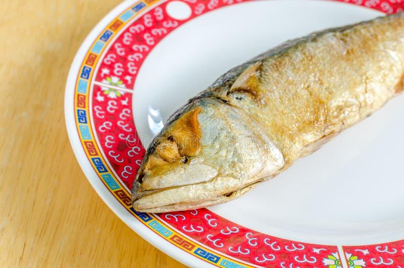 Smażąca makreli ryba (Tajlandzcy foods) obrazy royalty free