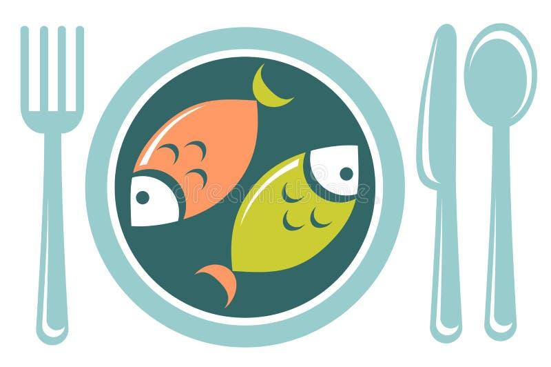 Smażąca ryba ilustracji