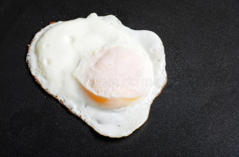 smażący łatwy jajko zdjęcia stock