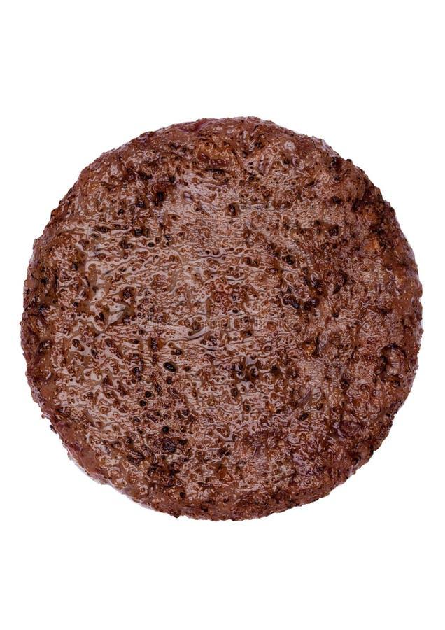 Smażący świeży wielki wołowina hamburger odizolowywający na bielu zdjęcie royalty free