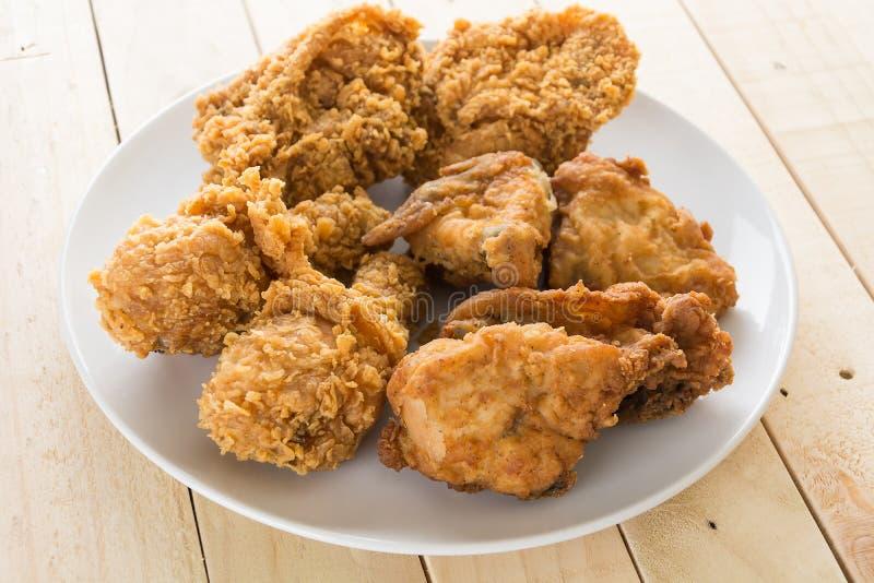 Smażący crispy kurczak fotografia royalty free