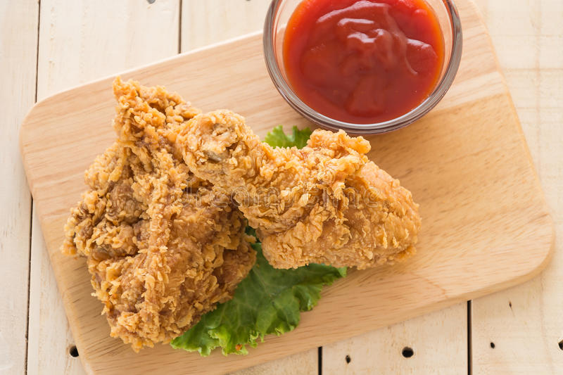 Smażący crispy kurczak fotografia stock