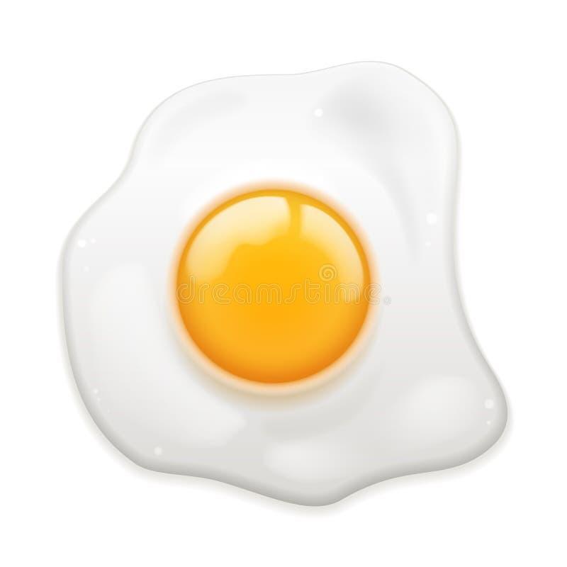 Smażący jajko ilustracja wektor