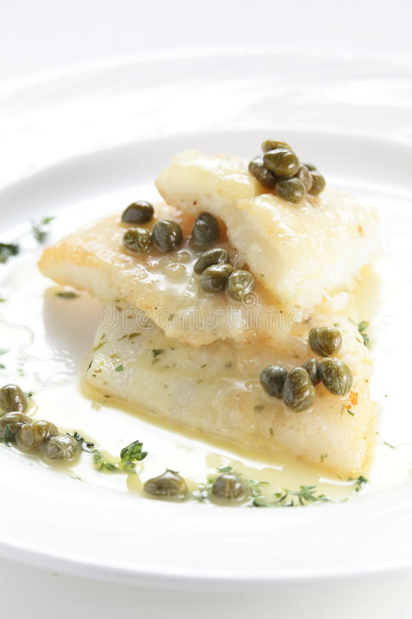 Smażący pokój rybi mięso obraz royalty free