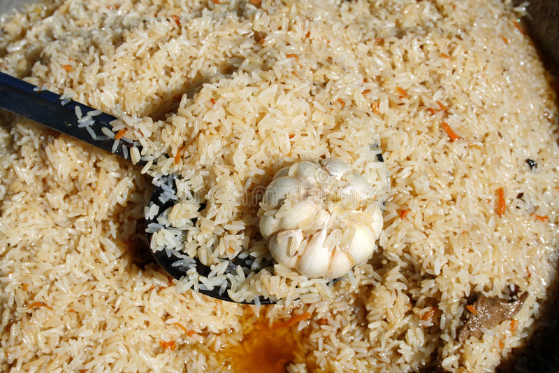 smażący ryż obraz royalty free