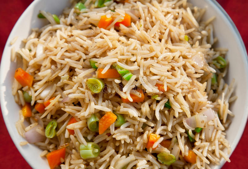 smażący ryżowy jarosz obrazy stock