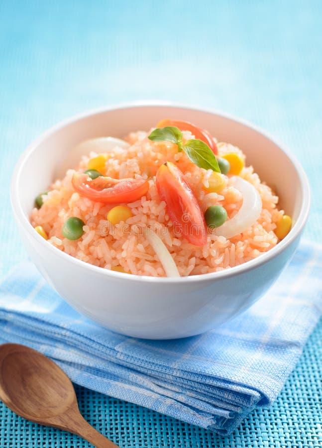smażący ryżowy warzywo obraz stock