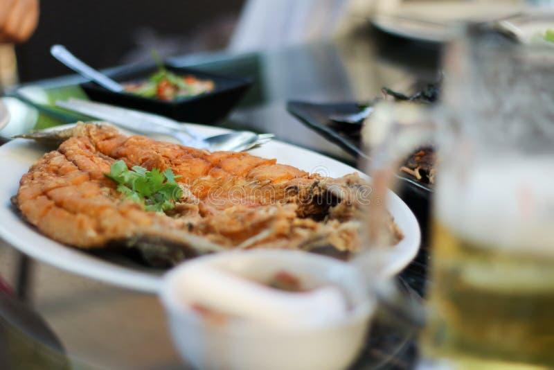 Smażący rybi Tajlandzcy foods zdjęcia royalty free