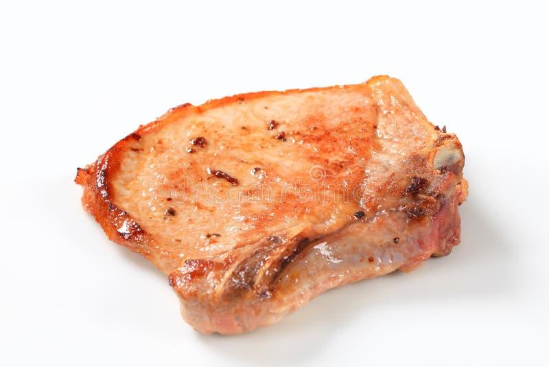 Smażący wieprzowina kotlecik zdjęcia stock