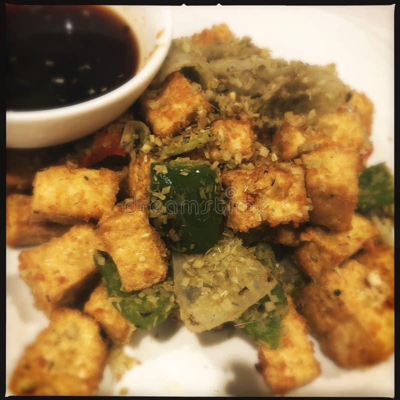 Smażący Wietnamski tofu obrazy stock