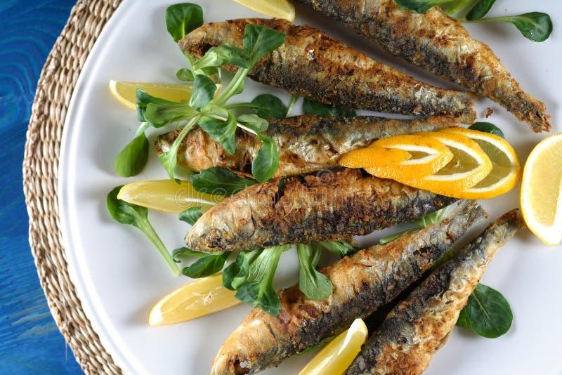smażona ryba zdjęcia stock