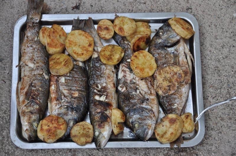 smażona ryba fotografia stock