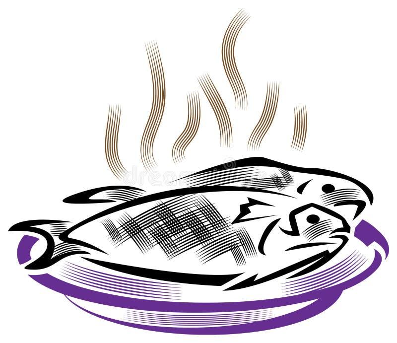 smażona ryba ilustracji