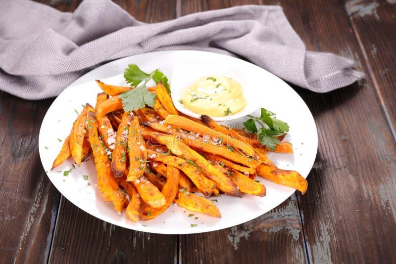 smażone sweet potato obrazy royalty free
