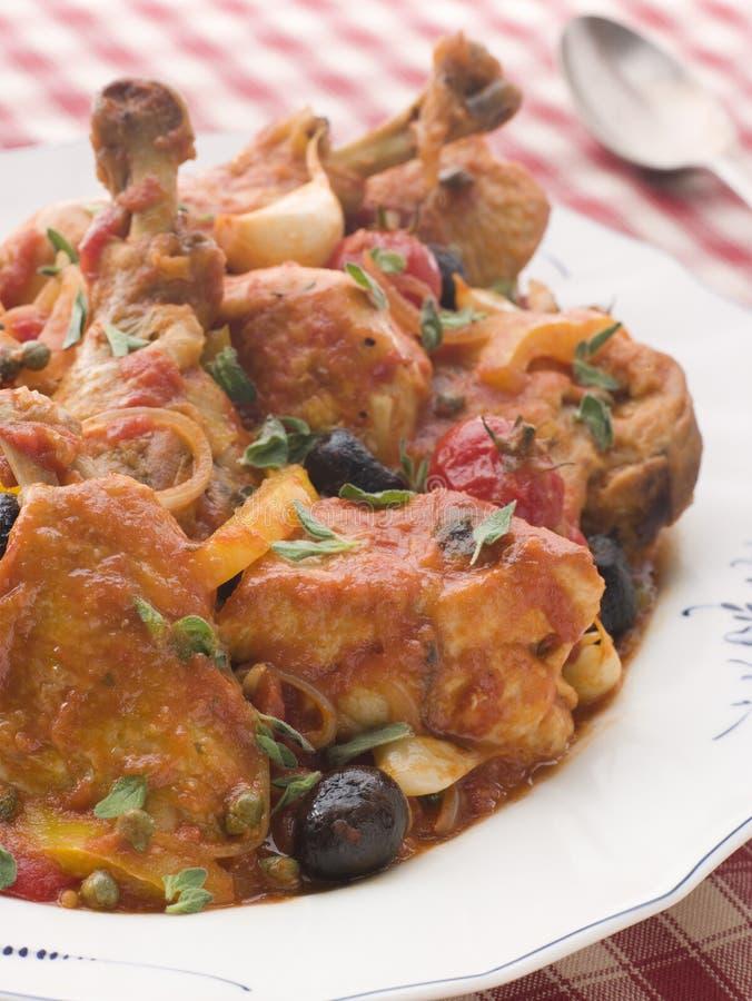 smażony kurczak provencale zdjęcie royalty free