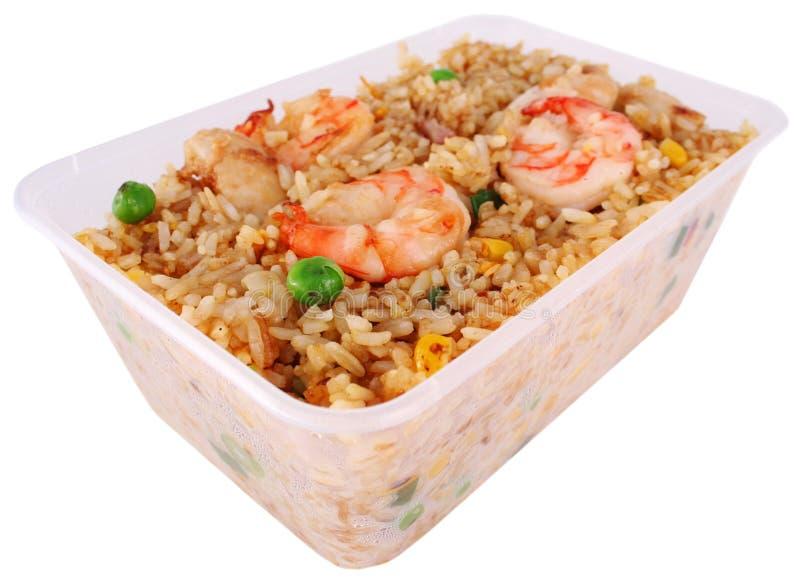 smażony przycinanie ścieżka ryżu fotografia royalty free