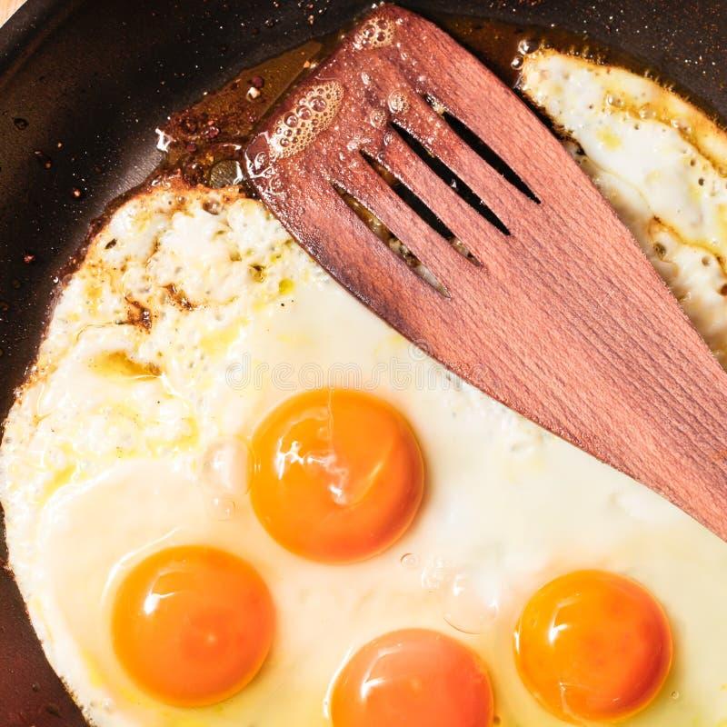 Smażyć jajka obraz stock
