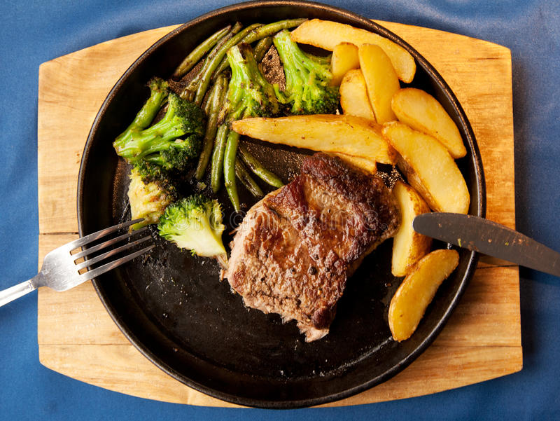smażyć mięsne grule fotografia stock