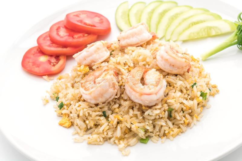 smażyć ryżowe garnele zdjęcie royalty free