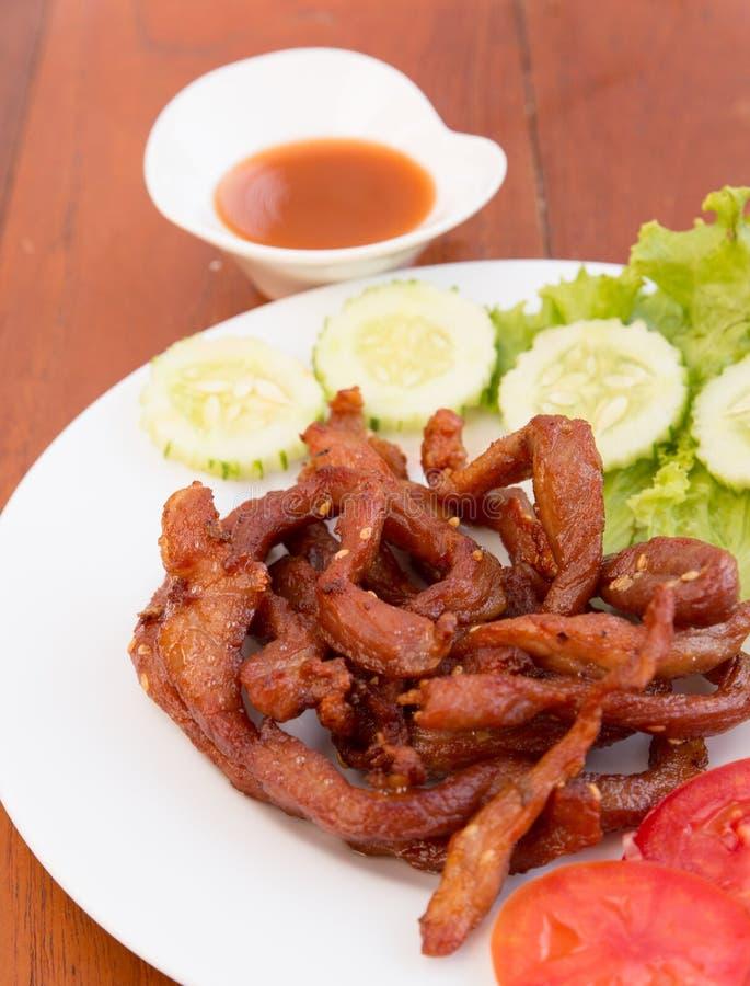 Download SMAŻĄCA POKROJONA Wieprzowina, TAJLANDZKI Jedzenie Zdjęcie Stock - Obraz złożonej z kuchnia, kosztujący: 53792014